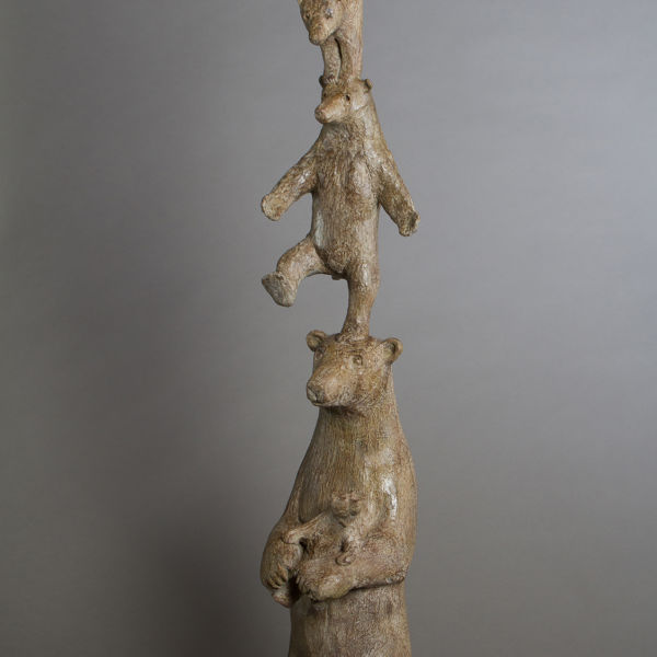 Sophie Verger - Les quatre pizzlys - Bronze - 111 x 23 x 25 cm - Fonderie Harze - 6500€