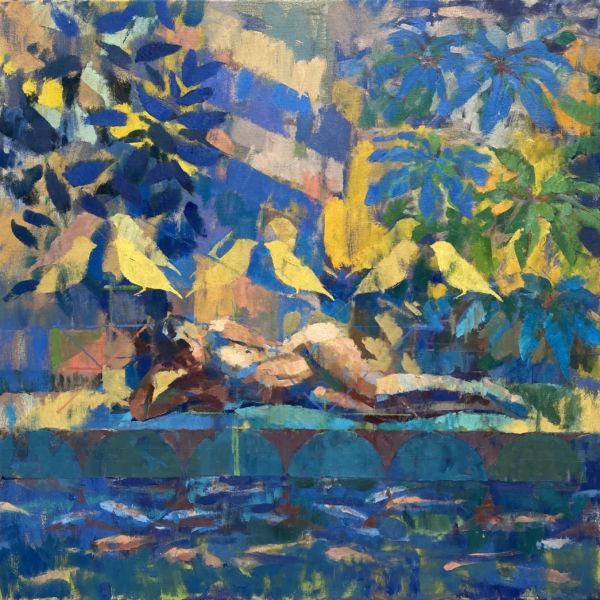 Ben Brotherton - Jungle - huile sur lin - 90 x 90 cm - 3500 €