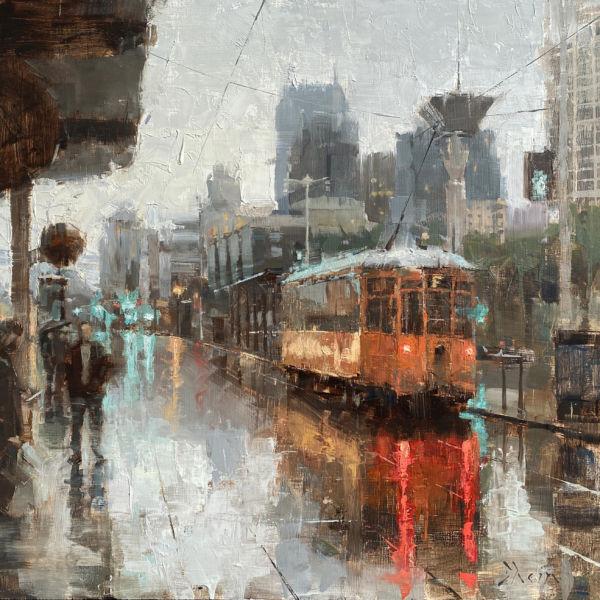 Jacob Dhein - Embaradero - San Francisco - huile sur bois - 60 x 60 cm - 3900 €