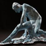 Adriano Ciarla - Nu - terre émaillée - 29 x 20 x 21 cm - 1200 €