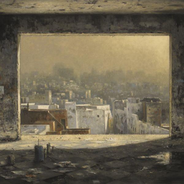 Christian Benoist - Les heures tièdes - huile sur toile - 89 x 130 cm - 8000 €