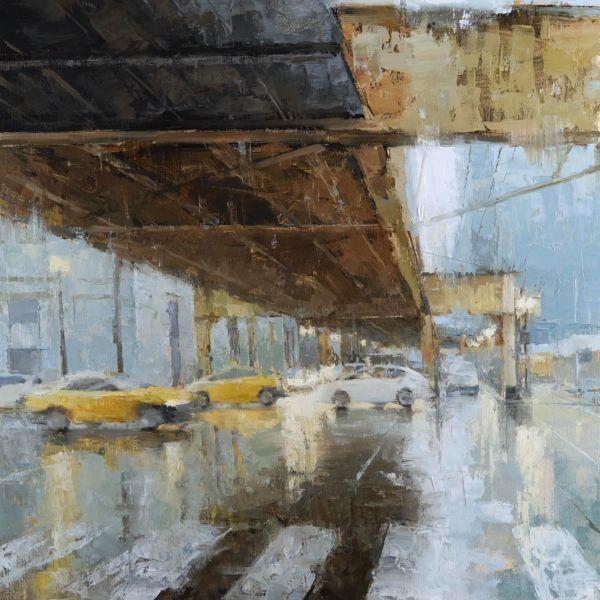 Jacob Dhein - Chicago - huile sur bois - 70 x 60 cm - 4600 €