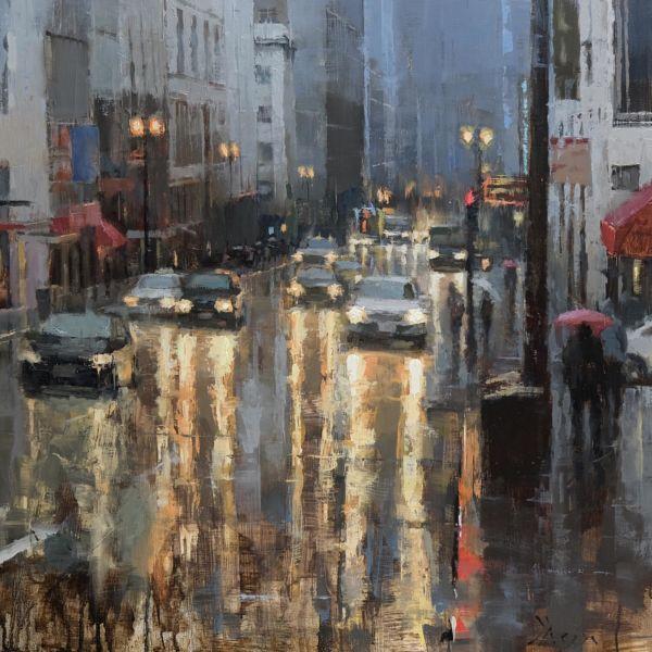 Jacob Dhein - San Francisco - huile sur bois - 50 x 50 cm - 3700 €