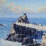 Luc Lavenseau - Le Rocher de la Vierge, Biarritz - huile sur toile - 81 x 100 cm - 3200 €