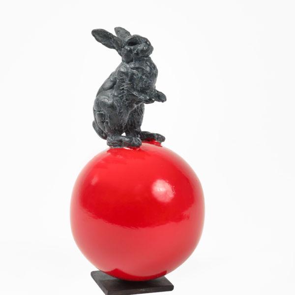 Charlotte Champion - Mini lapinou - Bronze et laiton peint - 14,5 x 8 cm - 1200 €