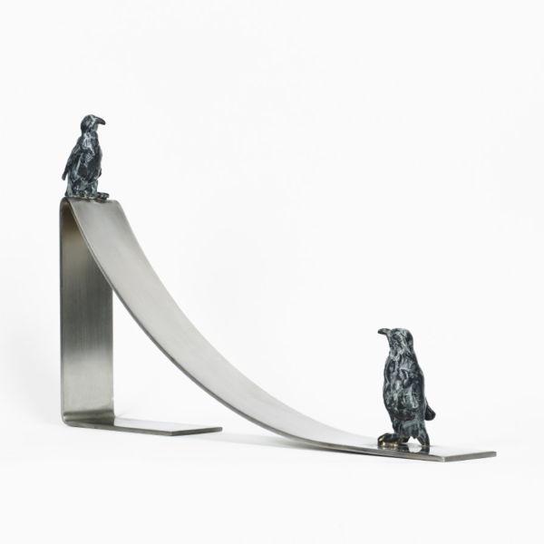 Charlotte Champion - Rico et skipper - Bronze et inox - 20 x 33 x 4 cm - 1100€