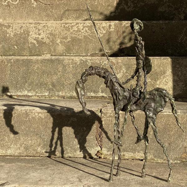 Christophe Rouleaud - Don Quichotte - bronze - 45 x 11 x 27 cm - 3300 €