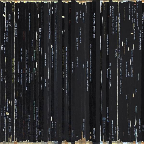 Didier Delgado - Bande Son Remix Soulages - acrylique sur toile - 40 x 120 cm - 2100 €