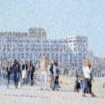 Luc Lavenseau - Biarritz, Impression 10 - huile sur toile - 46 x 61 cm