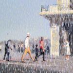 Luc Lavenseau - Biarritz, Impression 11 - huile sur toile - 46 x 61 cm