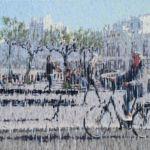 Luc Lavenseau - Biarritz, Impression 7 - huile sur toile - 73 x 116 cm - 3800 €