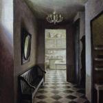 Marc Chalmé - Le couloir - huile sur toile - 81 x 65 cm