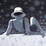 Luc Lavenseau - Femme au chapeau - huile sur toile - 81 x 100 cm - 3200 €