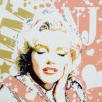 Luc Lavenseau - Marilyn - huile sur toile - 100 x 100 cm - 4100 €