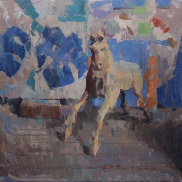 Ben Brotherton - Lloyd's horse - huile sur lin - 70 x 70 cm - 1400 €