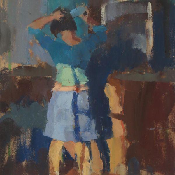 Ben Brotherton - Lumière du matin - huile sur lin - 40 x 23,5 cm - 800 €