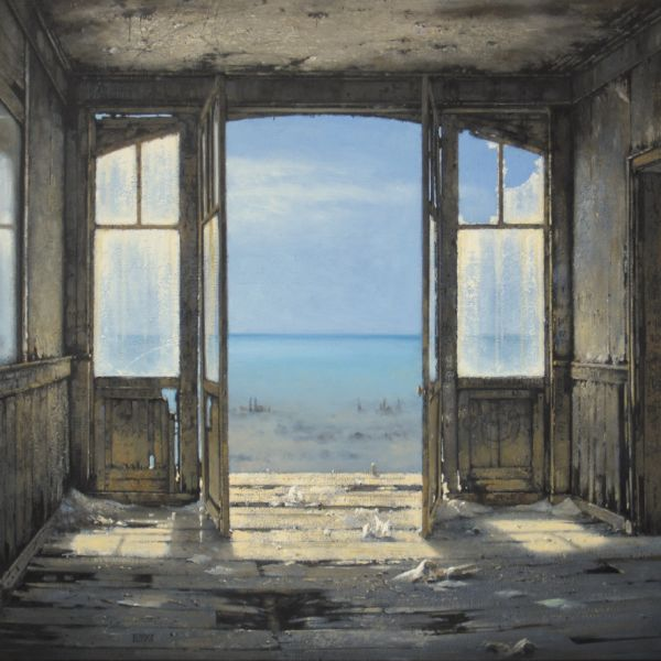Christian Benoist - Murmure - huile sur toile - 54 x 65 cm - vendu
