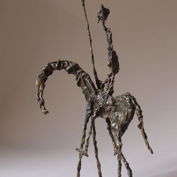 Christophe Rouleaud - Don Quichotte - bronze - 45 x 11 x 27 cm - 3500 €