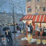 Fabienne Delacroix - Rue Cardinet - huile sur bois - 19 x 24 cm