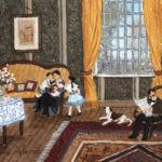 Fabienne Delacroix - Le temps de la félicité - huile sur bois - 14 x 18 cm