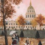Fabienne Delacroix - Aux Invalides - huile sur bois - 22 x 16 cm