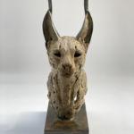 Isabelle Carabantes - Tête de caracal - bronze - 48 x 26 x 17 cm - 4300 €