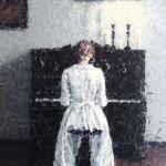 Luc Lavenseau - La pianiste - huile sur toile - 100 x 81 cm - vendu