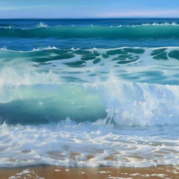 Nicole Stamakis - Biarritz, Ilbarritz en Octobre - pastel - 28 x 90 cm - 1400 €