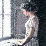 Luc Lavenseau - La lettre - huile sur toile - 100 x 81 cm - 3900 €