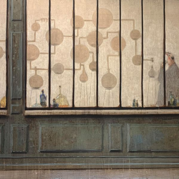 Thomas Bossard - L'alambic - huile sur toile - 81 x 116 cm - 4500 €