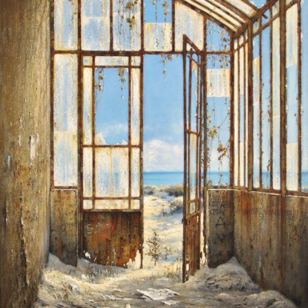 Christian Benoist - La serre des sables - huile sur toile - 81 x 60 cm - 5000 €