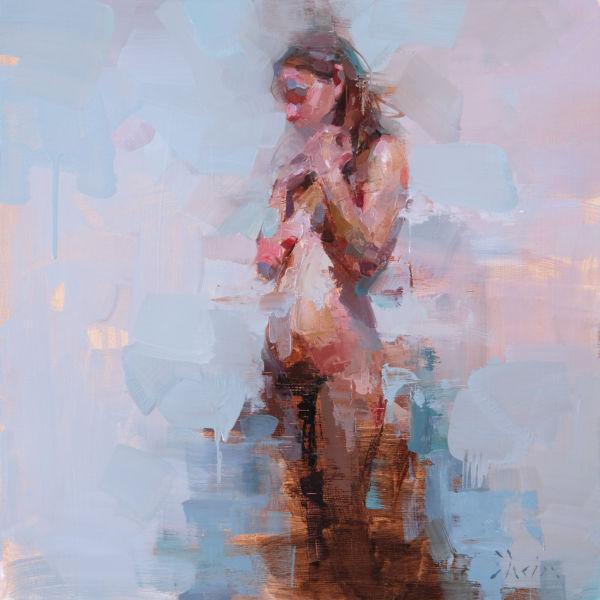 Jacob Dhein - Impasto nude - oil on wood - 50 x 50 cm - 3700 €