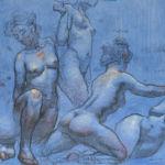 Shane Wolf - Conversions IV - fusain, sanguine, craie blanche sur papier préparé - 30 x 40 cm - 1000 €
