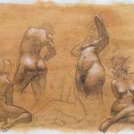 Shane Wolf - Conversions V - fusain, sanguine, craie blanche sur papier préparé - 50 x 70 cm - 1200 €