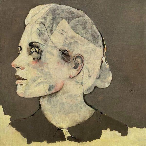 André Lundquist - Lettre en Avril IX - huile sur toile - 45 x 45 cm - 3000 €
