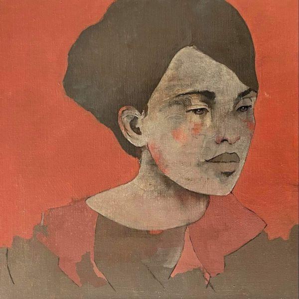 André Lundquist - Lettre en Avril VII - huile sur toile - 45 x 45 cm - 3000 €