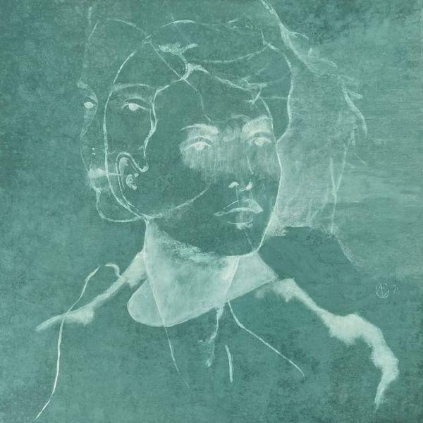 André Lundquist - Lettre en Avril I - huile sur bois - 48 x 48 cm - 3200 €