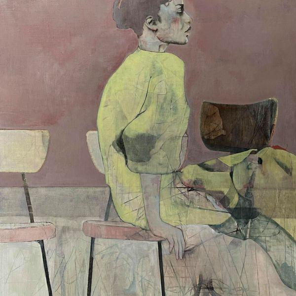 André Lundquist - Lettre en Avril V - huile sur toile - 141 x 120 cm - 7500 €
