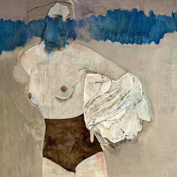 André Lundquist - Lettre en Avril III - huile sur toile - 100 x 100 cm - 5000 €