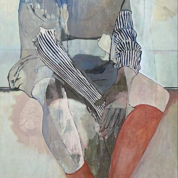 André Lundquist - Lettre en Avril II - huile sur toile - 180 x 80 cm - 6000 €
