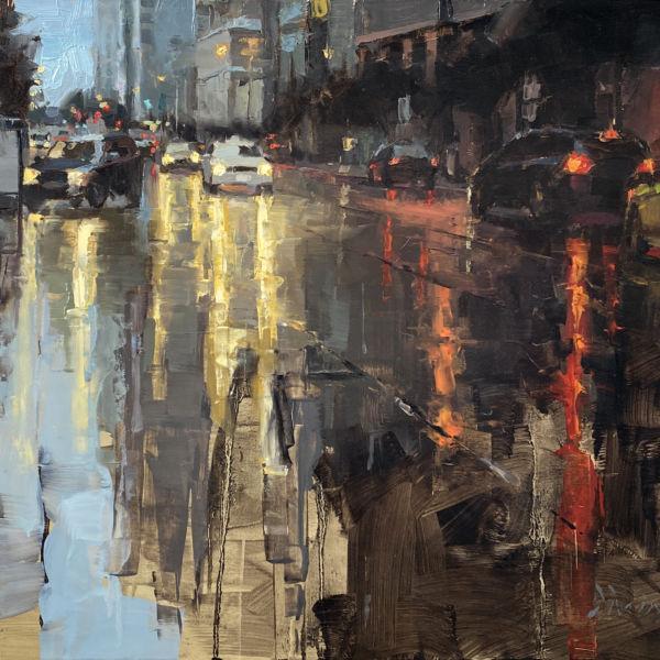 Jacob Dhein - San Francisco - huile sur bois - 45 x 60 cm - 3700 €