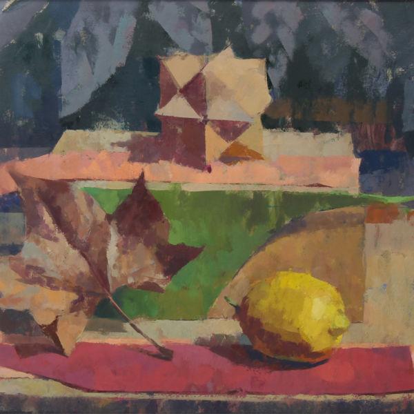 Ben Brotherton - Citron & feuille - huile sur toile - 40 x 50 cm - 850 €