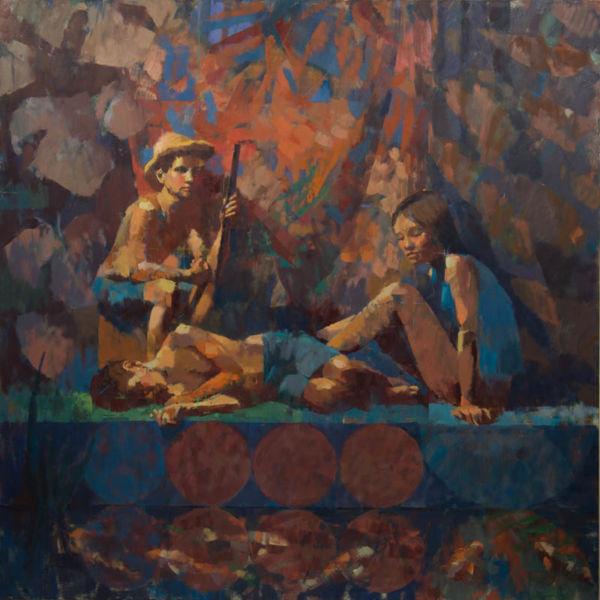 Ben Brotherton - Mississippi - huile sur toile - 150 x 150 cm - 6500 €