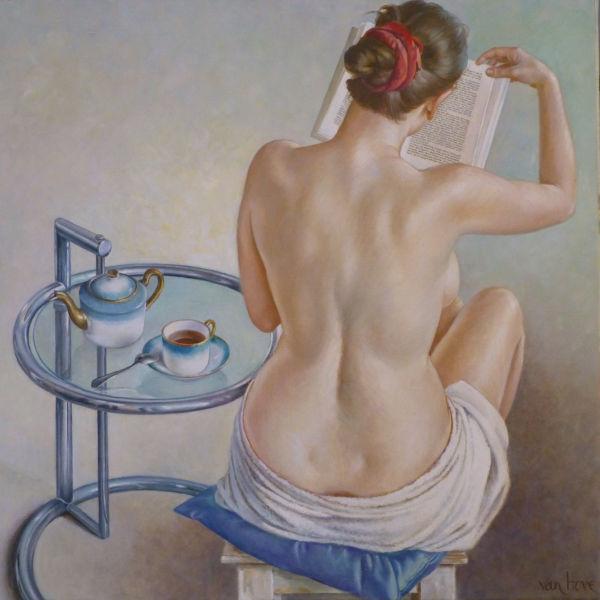 Francine Van Hove - Ellipse - huile sur toile - 56 x 56 cm