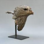 Isabelle Carabantes - Tête d'aigle - bronze - 34 x 31 x 14 cm - 4100 €