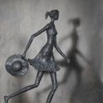 Valentine Laude - Le temps est bon - bronze 1/8 - 82 x 42 x 17 cm - 6500 €