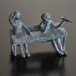 Valentine Laude - Moi maîtresse ! - bronze pièce unique - 10 x 11 x 5 cm - 1000 €