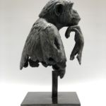 Isabelle Carabantes - Le Cogito - bronze - 58 x 31 x 33 cm - 8500 €
