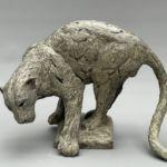 Isabelle Carabantes - Léopard sur le rocher - bronze - 60 x 42 x 34 cm - 8800 €
