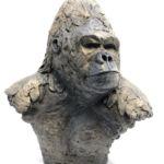 Isabelle Carabantes - Tête de gorille - bronze - 41 x 28 x 48 cm - 6800 €